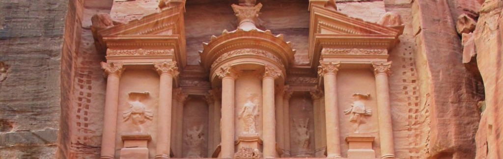 The Treasury, hewn in sandstone, is Petra's most elaborate and famous temple.