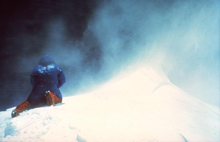 Die letzten Meter zum Gipfel: Peter Habeler auf dem Mount Everest