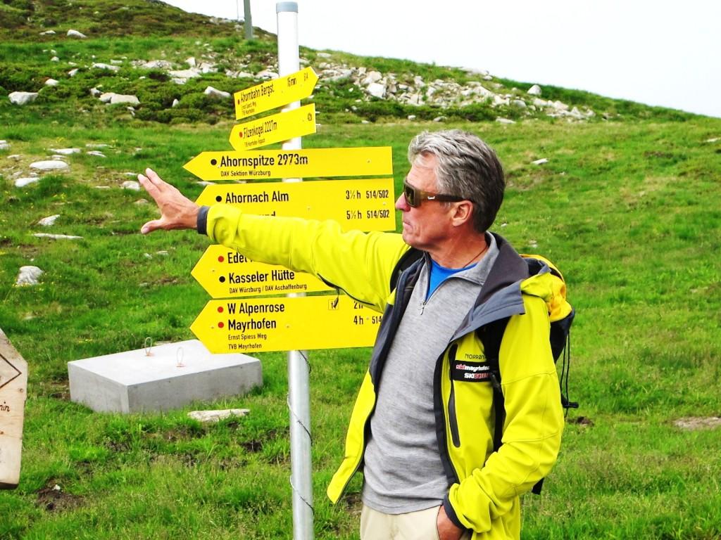 Peter Habeler im heimischen Zillertal