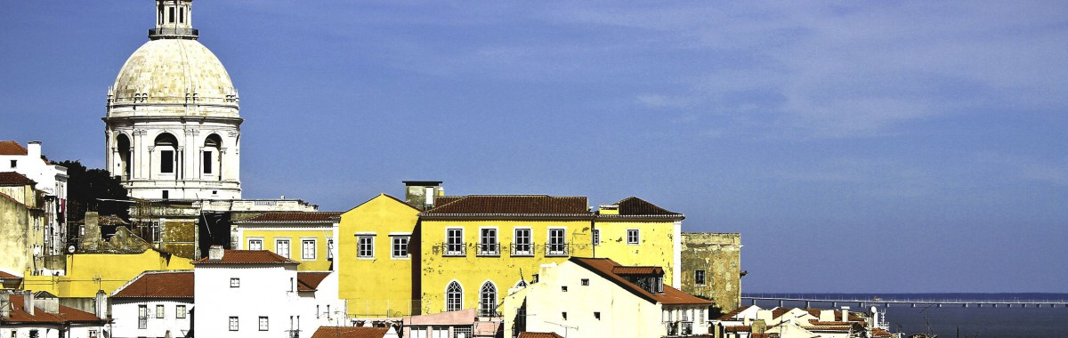 Alfama - the picturesque Old Town of Lisbon.