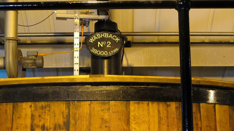 """The """"Washback"""" at the Auchentoshan Distillery in Scotland."""