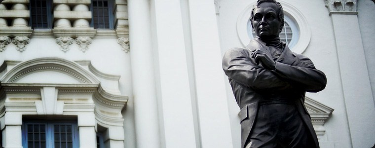 Mr. Thomas Stamford Bingley Raffles, scientist and founder of Singapore.