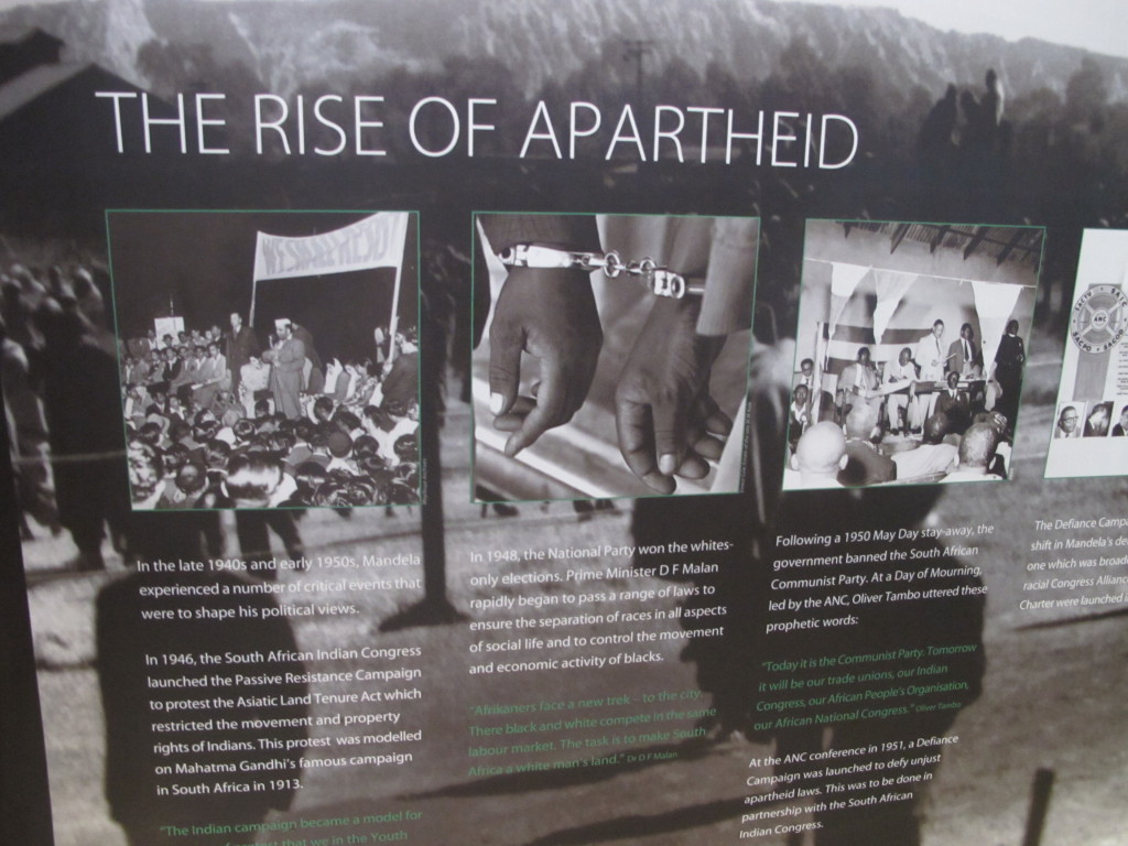 The Rise of Apartheid - exhibition at the Mandela Capture Site museum near Howick.