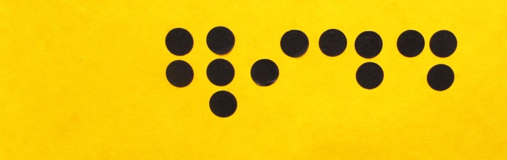 Yellow ribbon with black dots: Blindness is the topic of the Dialog Museum in Frankfurt.
