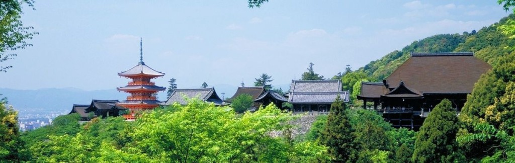 The roofs of Kyoto in Japan.