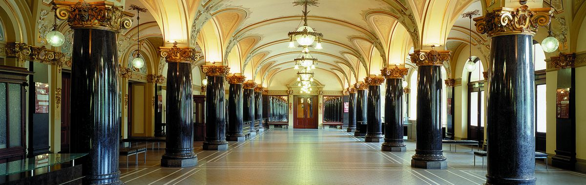 Interior: The Historic Town Hall Wuppertal is a treat for eyes and ears.