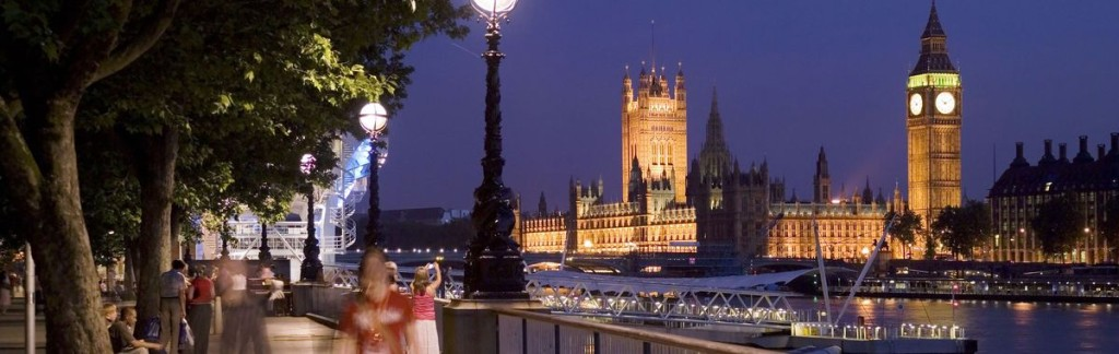 London: Westminster at night.