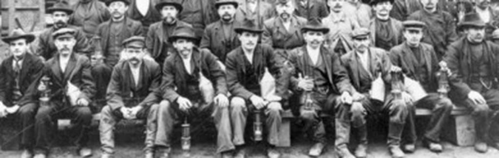 Coal miners working at the Zeche Zollverein in Germany.