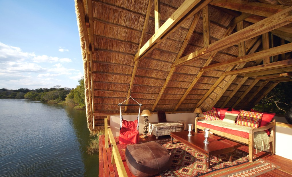 Tongabezi- situated by the banks of the Zambezi river close to the spectacular Victoria Falls.