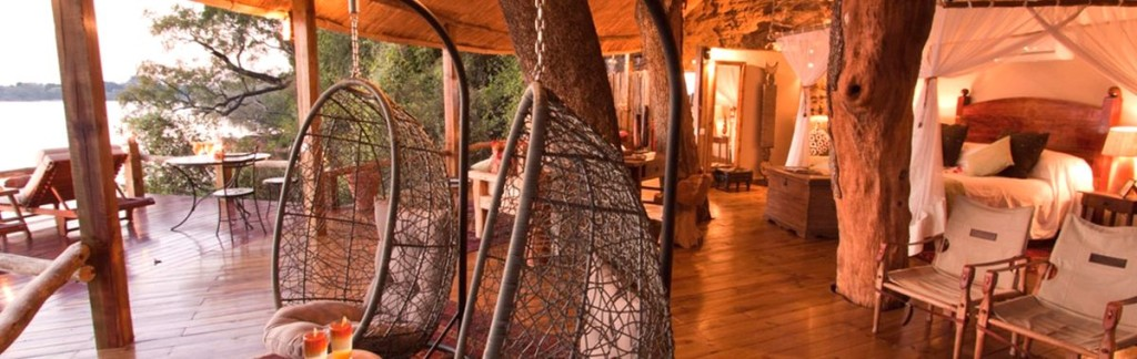 The New Tree House at Luxury Safari Lodge Tongabezi in Zambia.