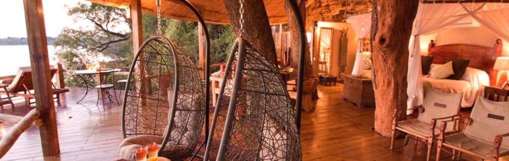 The New Tree House at Luxury Safari Lodge Tongabezi in Zambia.