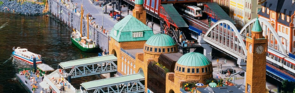 A toy harbour scene: The Miniature Train World in Hamburg's attracts millions of visitors each year.