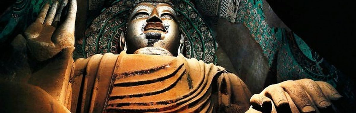 Statue of a Buddha in China + preservation of heritage