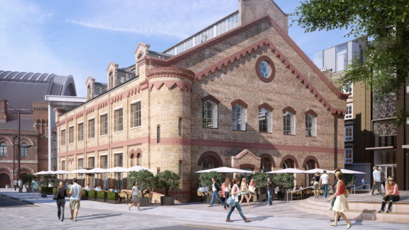 The 'German Gymnasium is being converted into a restaurant complex.