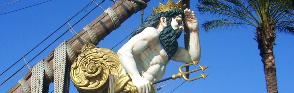 A figurehead on an old sailbot looking into the distance. The workforce crisis in 2030.