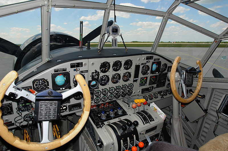 Flying the Ju 52 is a hands-on job requiring refined pilot skills.