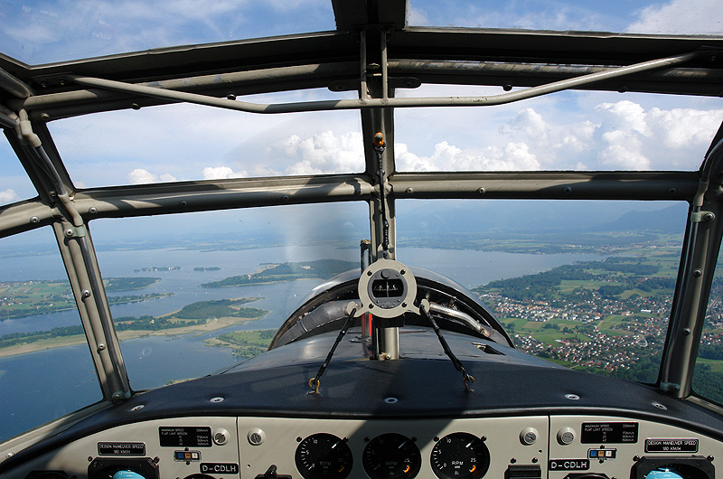 The Ju 52 vintage aircraft can hold sixteen passengers.