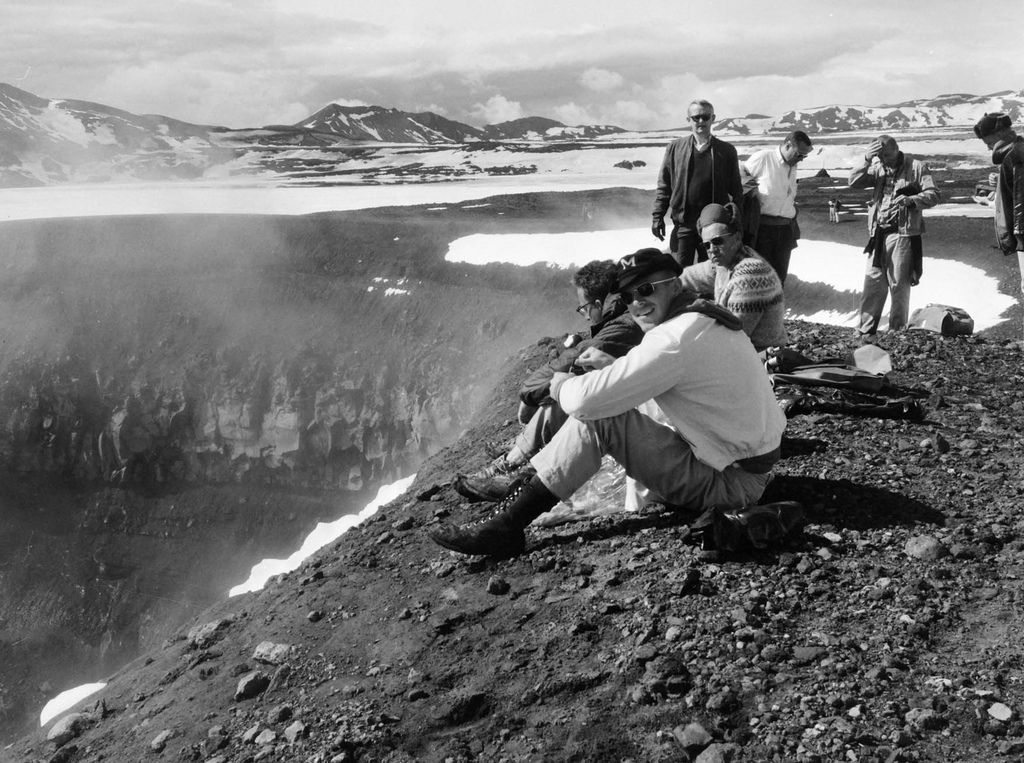 "Exceperts of a progress report  by Dr. Mark Helper, an US geologist who accompanied astronauts to Iceland: ""We took one of our best field trips to Iceland. If you want to go to a place on earth that looks like the Moon, central Iceland should be high on your list, as it beautifully displays volcanic geology with virtually no vegetation cover.  Our field exercises on the rim of the Askja Caldera went very well. I spent most of my time  working with Dave Scott, Gene Cernan, and C. C. Williams. Scott and Cernan were especially adept at unraveling the sequence of geological events along the caldera rim.(Photos 28-31).  They knew quite a bit about the rocks."" http://www.lpi.usra.edu/publications/books/moonTrip/iiAstronautGeologyTraining.pdf Photo by Sverrir Pálsson – The Exporation Museum"