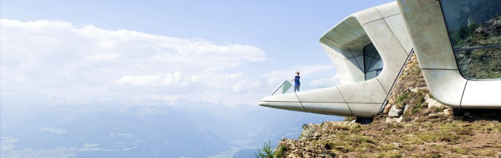 The Corones is the sixth Messner Mountain Museum in South Tyrol. Architect is Zaha Hadid.