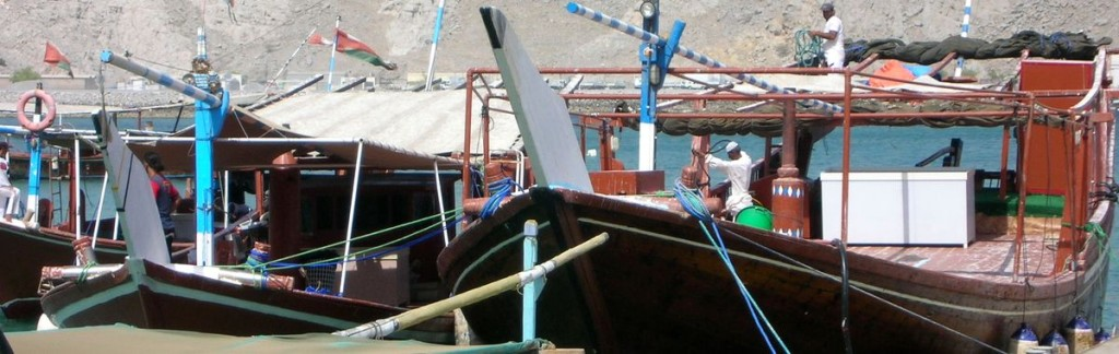 Traditional Dhows in Musandam/Oman. 12 days in Oman