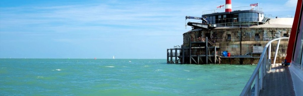 The Spitbank Fort in the Solent strait in Great Britain.