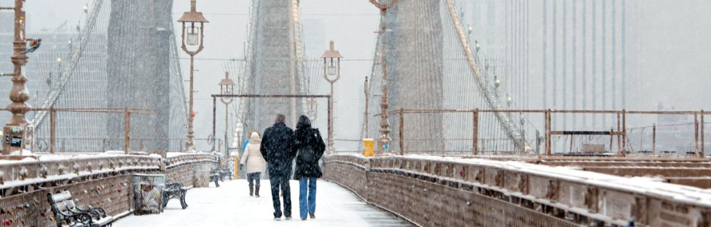 Winters are chilly in NYC. A walk across Brooklyn Bridge is worth your while in any season.