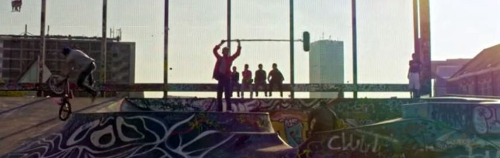 Halfpipe and bikers: Sounds of the city captured virtually everywhere.