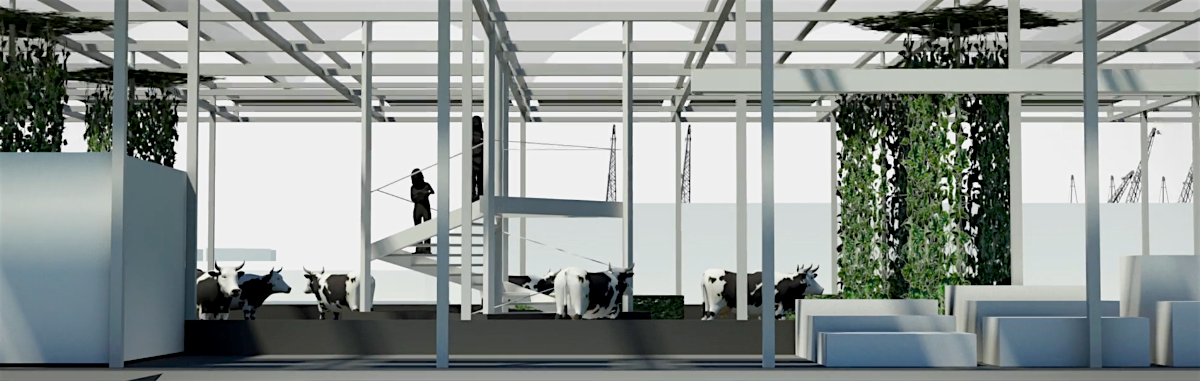 The Floating Farm Project in Rotterdam
